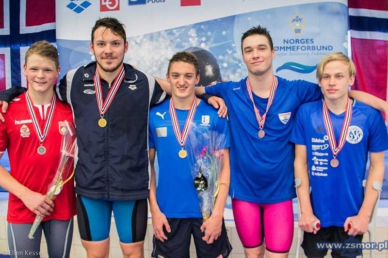 Piotr Ludwiczak mistrzem Norwegii w pływaniu