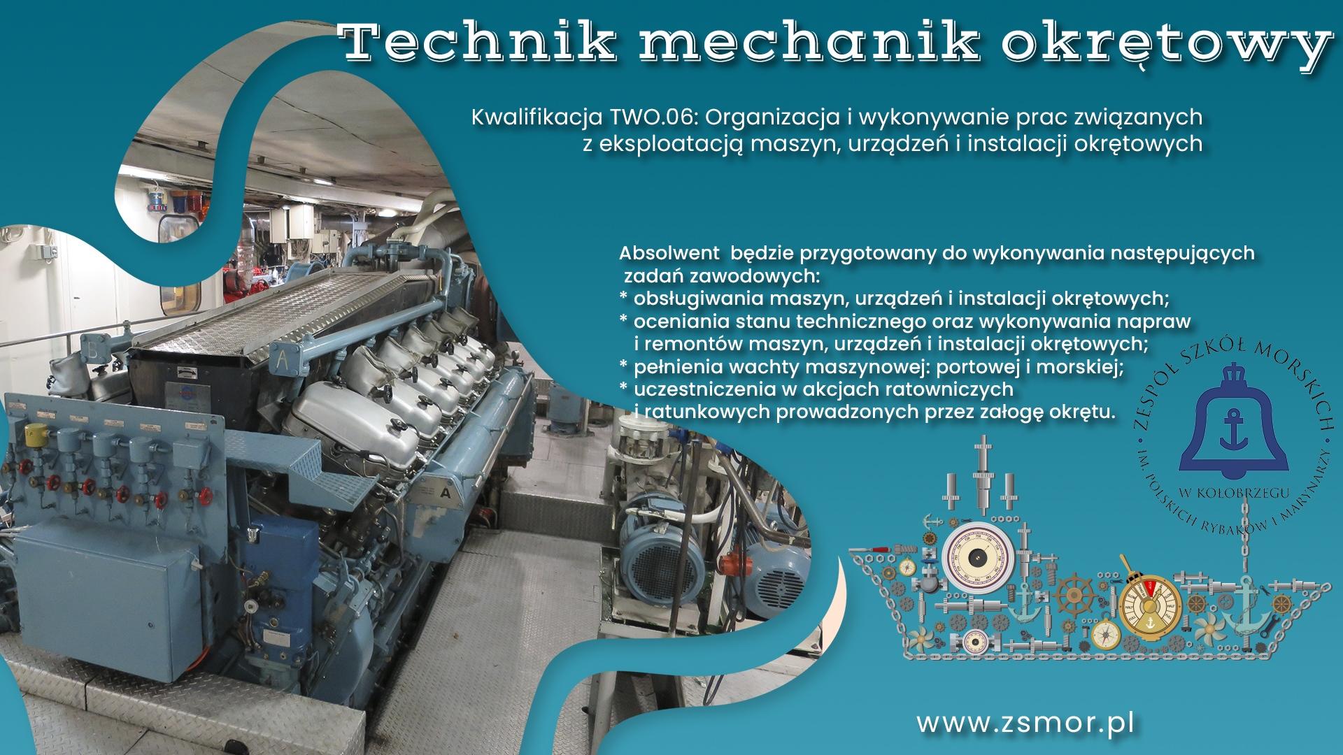 Plakat promujący kierunek mechaniczny wZSM