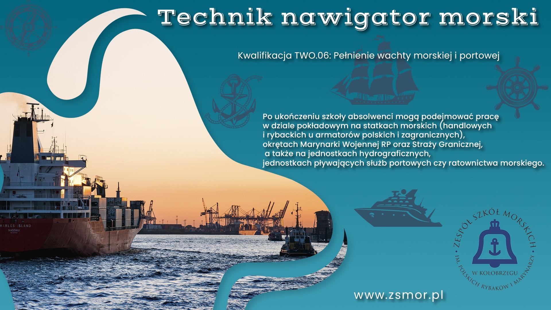Plakat promujący kierunek nawigacyjny wZSM